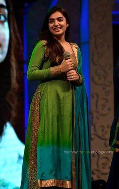 Nazriya Nazim in Salwar Indian Wedding Gowns, Indian Dresses, Indian Outfits, Nazriya Nazim, Churidar Designs, Saree Photoshoot, Kurti Designs Party Wear, Anarkali Dress, Indian Designer Wear