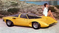 alfa romeo p33 coupé - pininfarina - yellow cars