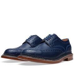 Grenson Archie Triple Welt Navy Country Grain