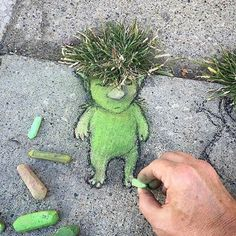 David Zinn at work in Michigan, USA, 2016