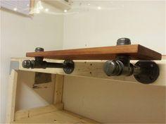 iron pipe shelf - Google Search