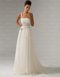 Sheath/Column Square Sleeveless Zipper Net Crystal Floral Pin Watteau Wedding Dress at Millybridal.com