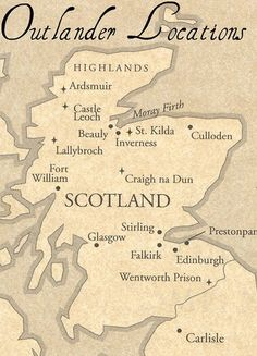 Diana Gabaldon's, Outlander Series Locations ~ Jamie and Claire Fraiser ~ Loved the books may have to see the sites!