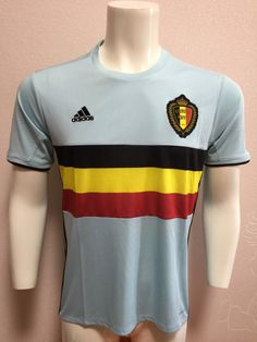 c7ce15d690c23 camiseta de futbol baratas seleccion belgium 2016 UEFA segund equipacion  sky blue real photo