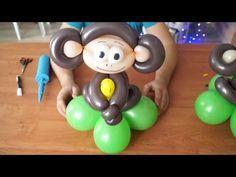 Обезьяна из воздушных шаров своими руками. Monkey of balloons with their hands. - YouTube