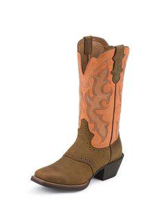 peach cowboy boots