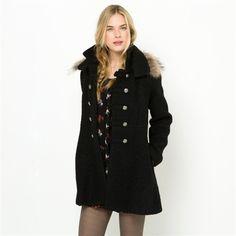 Manteau Femme La Redoute promo manteau, achat Manteau col fausse fourrure amovible doublé Molly Bracken prix promo La Redoute 119.95 € TTC