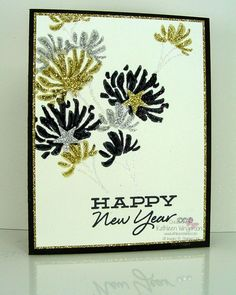 Happy New Year card made with Too Kind stamp set from Stampin Up by Kathleen Wingerson    www.kathleenstamps.com