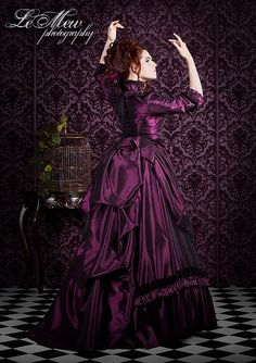 Mina Dracula Victorian Bustle Gown Lower Price by RomanticThreads