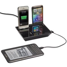 Charge 4 devices at the same time using only one power outlet!