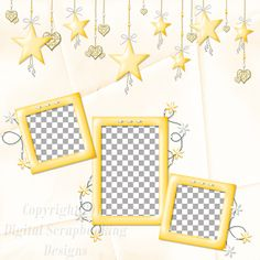 "Layout QP 9D-4 CAFS…..Quick Page, Digital Scrapbooking, Catch A Falling Star Collection, 12"" x 12"", 300 dpi, PNG File Format"