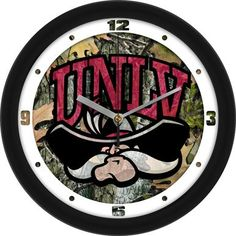 NCAA Las Vegas Rebels Camo Wall Clock