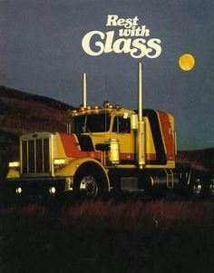 Photo: Rest With Class Show Trucks, Big Rig Trucks, Old Trucks, Peterbilt 359, Peterbilt Trucks, Ranger, Heavy Construction Equipment, Heavy Truck, Abandoned Cars