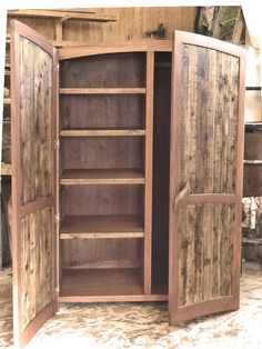 Fresh Reclaimed Wood Tall Cabinet