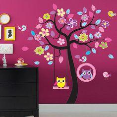 Hadas de las flores flores negras and pegatinas de pared for Stickers habitacion nina