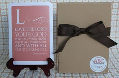 ABC Scripture Cards. A different scripture for every letter.