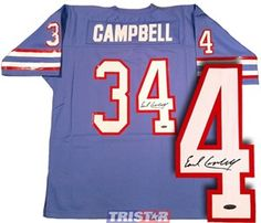 Earl Campbell Signed Tennessee Titans Jersey with COA by Autograph-Sports  005e10920