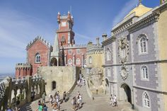 PALÁCIO NACIONAL DA PENA (SINTRA, PORTUGAL) A popular royal residence for the Portuguese monarchy from the 15th through to the 19th centuries, this beautiful medieval palace is now a UNESCO World Heritage Site and Sintra's best-known tourist attraction.