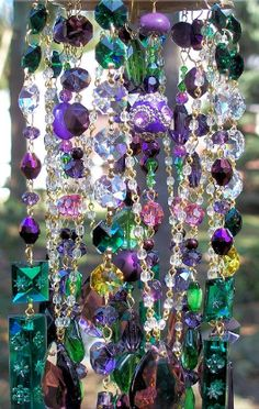 Crafts and Repurposing •~• crystal suncatcher