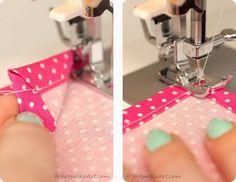 Guardanapo de tecido com cantos perfeitos | Clubinho da Costura