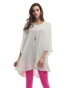 Doublju Womens Jersey Tunic with Flare Line in Fine Soft Rayon Spandex IVORY M Doublju,http://www.amazon.com/dp/B00BG43IF8/ref=cm_sw_r_pi_dp_rcDZrb1W9F0VWCF9