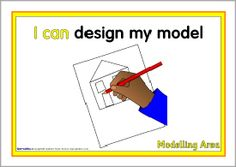 Modelling area 'I can' signs (SB1287) - SparkleBox