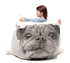 Pug Bean Bag Cover by Freeasy in for humans