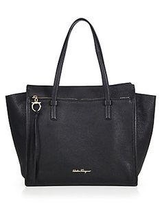 64c4315104 Salvatore Ferragamo - Amy Convertible Leather Tote