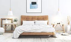 scandinavian bedroom with creative design