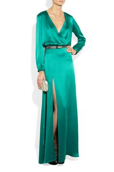 Mason by Michelle Mason Washed silk-charmeuse wrap-effect gown - 50% Off Now at THE OUTNET