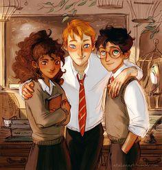 The Golden Trio by Natello's Art