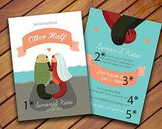 Personalised Otter Wedding Invitation