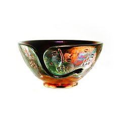 Freya Ceramic Yarn Bowl Raku Pottery Roman Style by CHpottery, $38.50