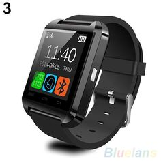 U8 Bluetooth Curious Sleek Black Smart Watch Phone Mate For IOS Android Samsung #Watch_dealus