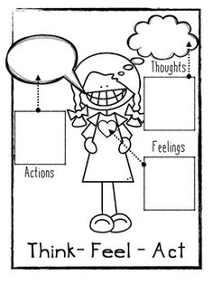 Freebie! Think Feel Act Worksheets  - repinned by @PediaStaff – Please Visit  ht.ly/63sNt for all our pediatric therapy pins