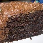 Σούπερ υγρό σοκολατένιο κέϊκ γαρνιρισμένο σε σαντιγί σοκολάτας Sweet, Food, Dessert Recipes, Candy, Essen, Meals, Yemek, Eten