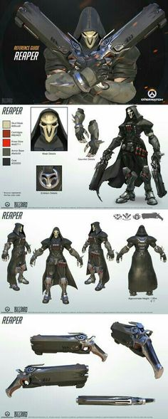 Overwatch cosplay costume references Reaper