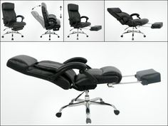 The VIVA Office Executive and Managerial Chair reclines fully and has an extended foot rest for the ultimate in office comfort. GetdatGadget.com/viva-office-executive-managerial-chair/