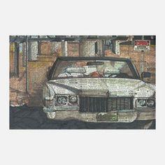 Convertible Print - Adam Ambro  Automotive Prints On Newspaper