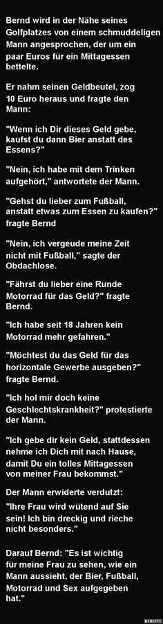 Bernd wird in der Nähe seines Golfplatzes..   Lustige Bilder, Sprüche, Witze, echt lustig