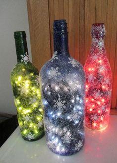 HomelySmart | 15 Christmas Themed Decor With Wine Bottles - HomelySmart