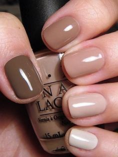 Ombre nude nail polish  #ombre #nude #nailart