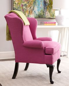 Who said grandmas wing chair had to go? Classic styling with current color trends deliver so much fun!!!!!!!!!