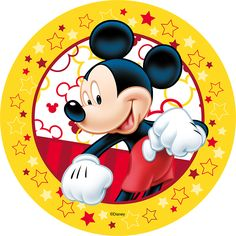 Opłatek Miki Świat cukiernika Theme Mickey, Fiesta Mickey Mouse, Baby Mickey, Mickey Party, Mickey Mouse Clubhouse, Mickey Mouse Birthday, Mickey Minnie Mouse, Mickey Mouse Images, Mickey Mouse And Friends