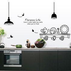 Kitchen Wall Decal Kitchenware Sticker Wall Sticker by UniTime
