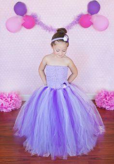 Newborn Size 12 Purple Lavender and White Tutu by krystalhylton