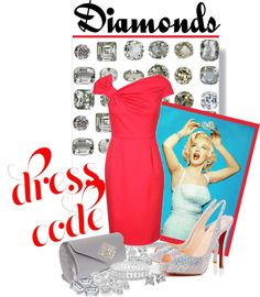 """""""Dress Code: Diamonds"""" by adduncan ❤ liked on Polyvore"""