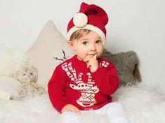 a4ff4c31e35 Tricot pour bébé   pull et bonnet du petit lutin du père Noël