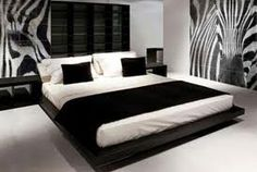 Black & White Bedroom.