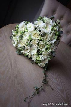 White Heart bouquet - Szív